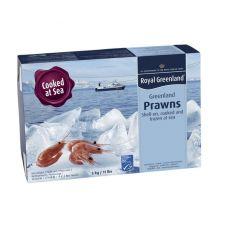 Krevetės šiaurinės, nelukšt., virt., MSC,70/90, šald.,1*5kg (gr.k. 5kg),(P.Borealis), RG