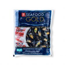 Midijos melynos, ASC, 40/60, šald., 5*1kg (gr.k. 1kg), R Seafood