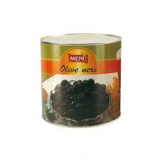 Alyvuogės juodos s/k, Hojiblanca, sūryme, 240/260, 6*2.6kg (gr.k. 1.6kg), Menu