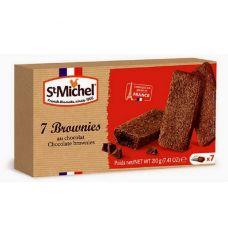 Keksas Brownies, 12*210g, St Michel