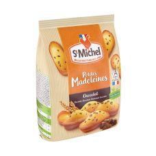 Keksas Madeleines su šokolado gabaliukais, mini, 12*175g, St Michel