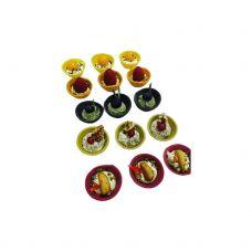 Krepšeliai Coupelle H spalvoti mix, 1*(4*60) 240vnt., Croc in